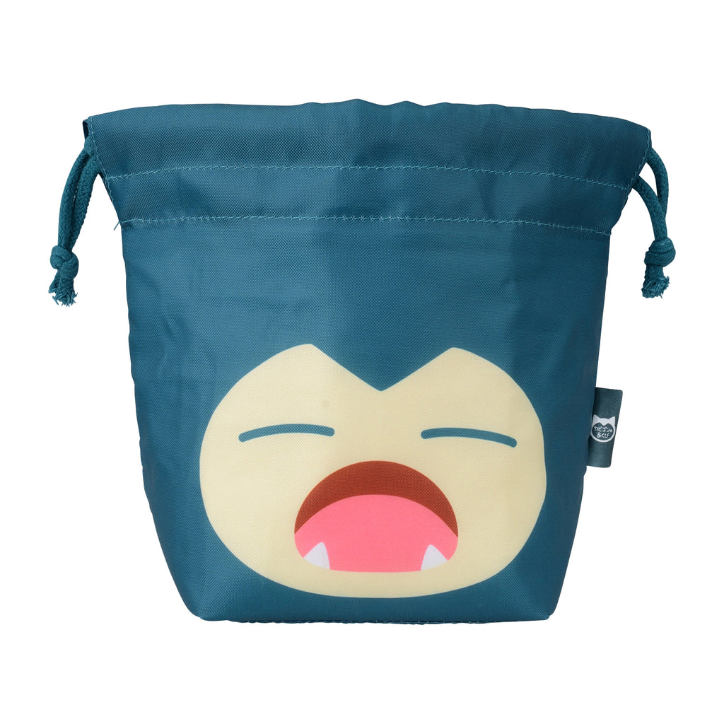 Snorlax Yawn Kabigon Drawstring Lunch Bag Pokemon Center Japan Original