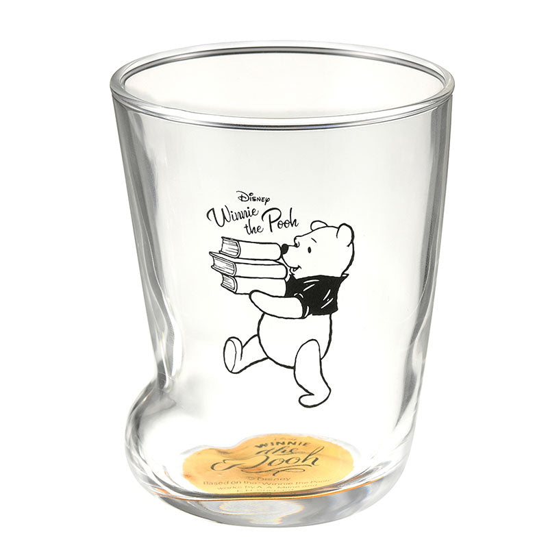 Winnie the Pooh Glass Cup Socks Disney Store Japan With Box