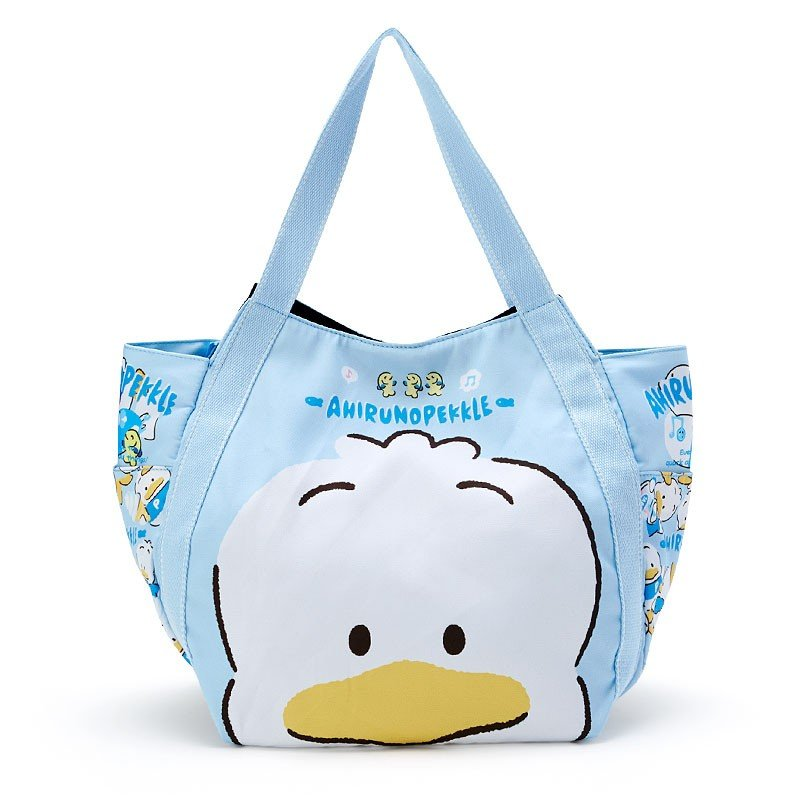 Ahiru no Pekkle Print Tote Bag Face Sanrio Japan