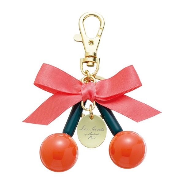Keychain Key Holder Ribbon Cherry Red Laduree Japan