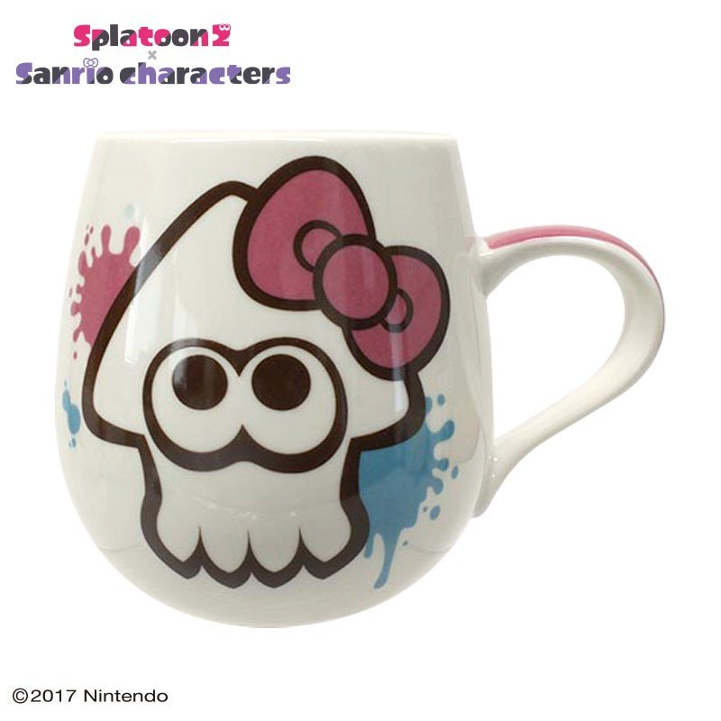 Hello Kitty Mug Cup Squid Splatoon 2 Sanrio Japan
