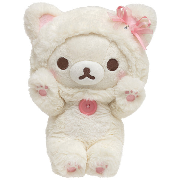 Korilakkuma in the Mirror Plush Doll M Pink San-X Japan Rilakkuma