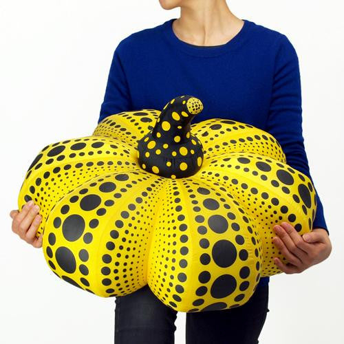 Yayoi Kusama Pumpkin Soft Sculpture Plush Doll L Yellow Black Japan