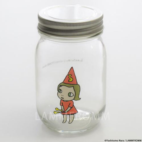 Yoshitomo Nara Glass Storage Jar M Girl 3 Orange Japan Art
