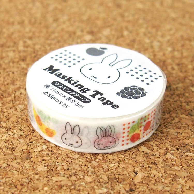 Miffy Masking Tape Sticker H Fruits Friends Japan Dick Bruna