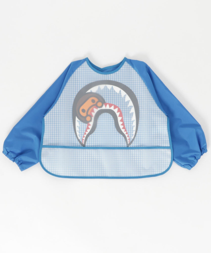 CHECK MILO SHARK FOOD SMOCK KB Blue A BATHING APE Japan Kids