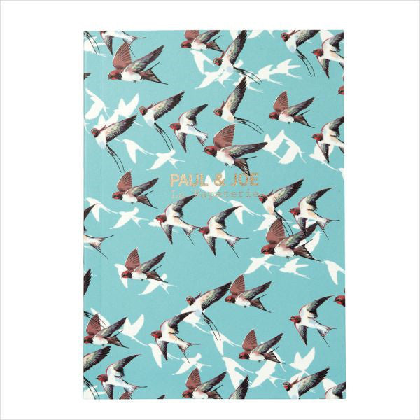 A6 Notebook Swallow Blue PAUL & JOE Japan