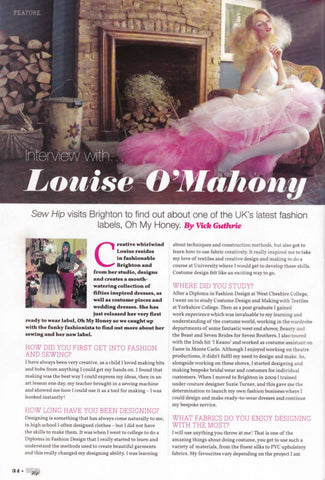 Oh My Honey 1950's style wedding dresses louise O'Mahony interview