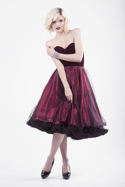 Ruby Velvet, Tulle & Satin Party Dress