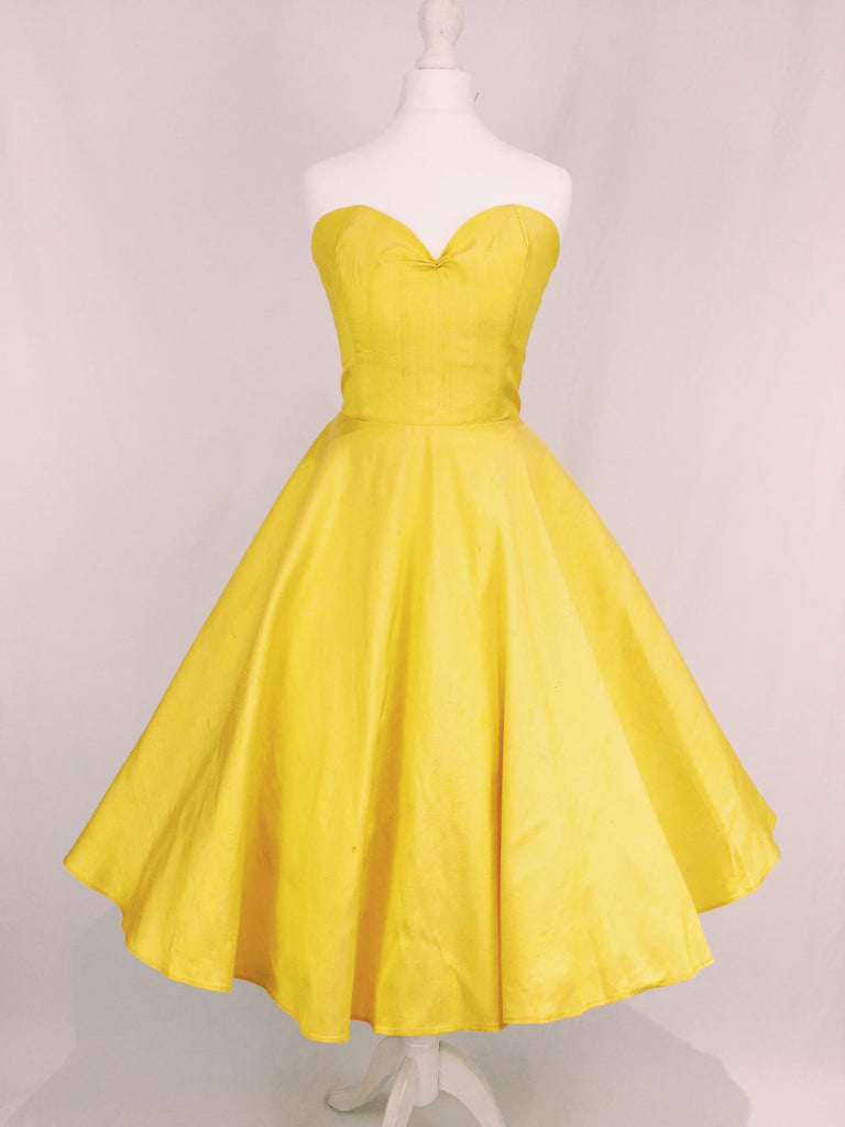 Yellow Raw Silk Dress