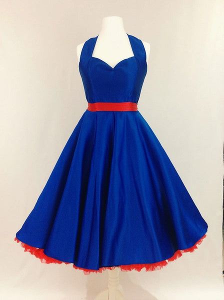 Cobalt Blue Satin Dress