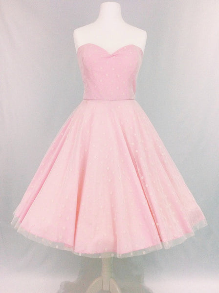 Pink & Tulle Polka Dot Dress
