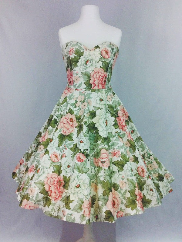 Vintage Floral Dress (One of a kind, size 12)