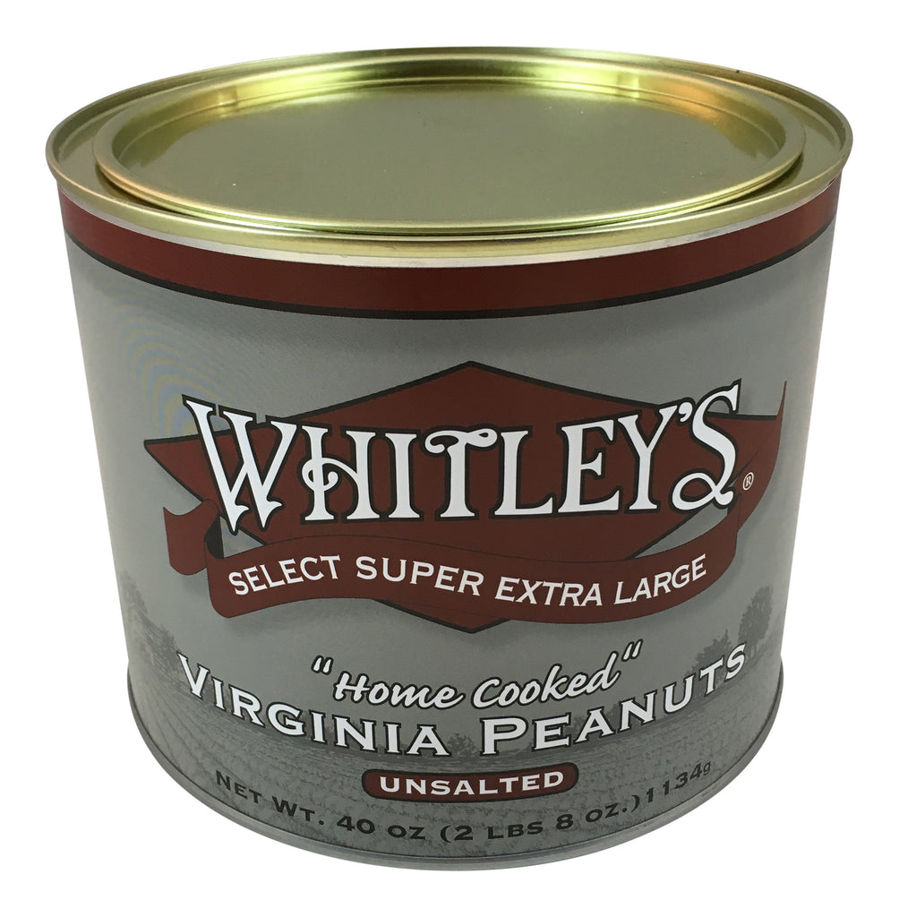 Whitley's Unsalted Virginia Peanuts 40 Oz
