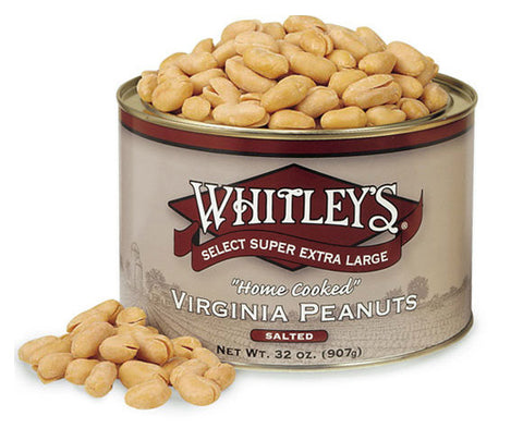 Whitleys Salted Virginia Peanuts 32 Oz.