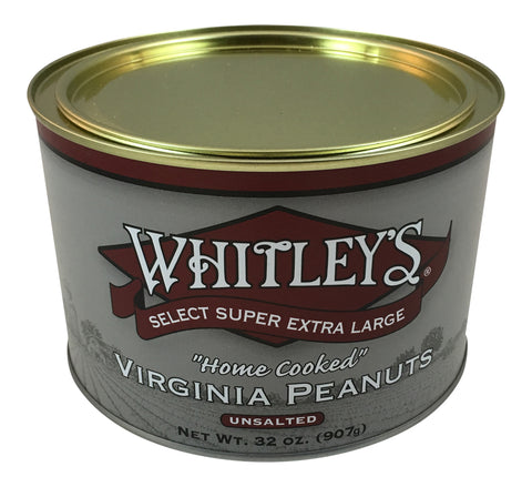 Whitley's Unsalted Virginia Peanuts 32 Oz