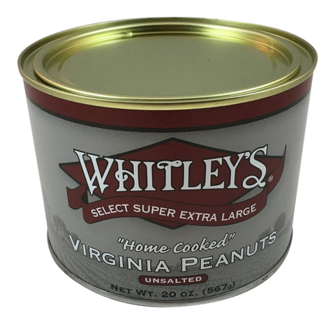 Whitley's Unsalted Virginia Peanuts 20 Oz