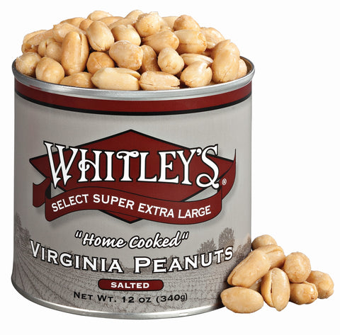 Whitleys Salted Virginia Peanuts 12 Oz.
