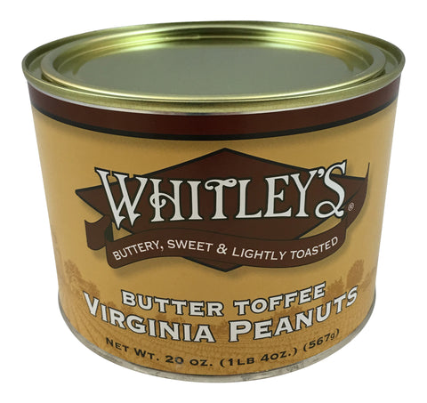 Whitley's Butter Toffee Virginia Peanuts 20 Oz.