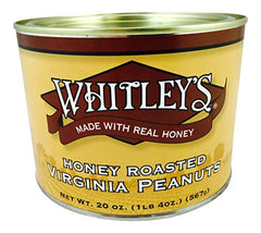Whitley's Honey Roasted Virginia Peanuts 20 Oz.