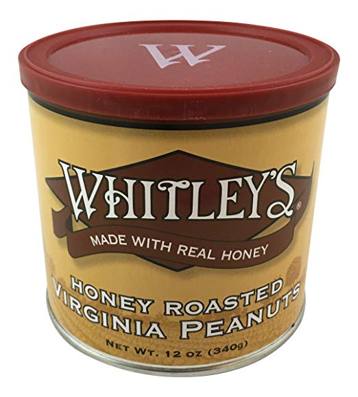 Whitley's Honey Roasted Virginia Peanuts 12 Oz. Tin