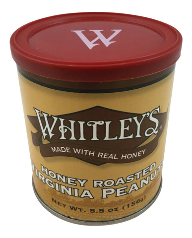 Whitley's Honey Roasted Virginia Peanuts 5.5 Oz.