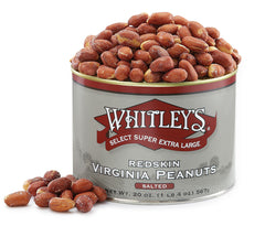 Whitley's Home Cooked Salted Redskins Virginia Peanuts 20 Oz. Tin