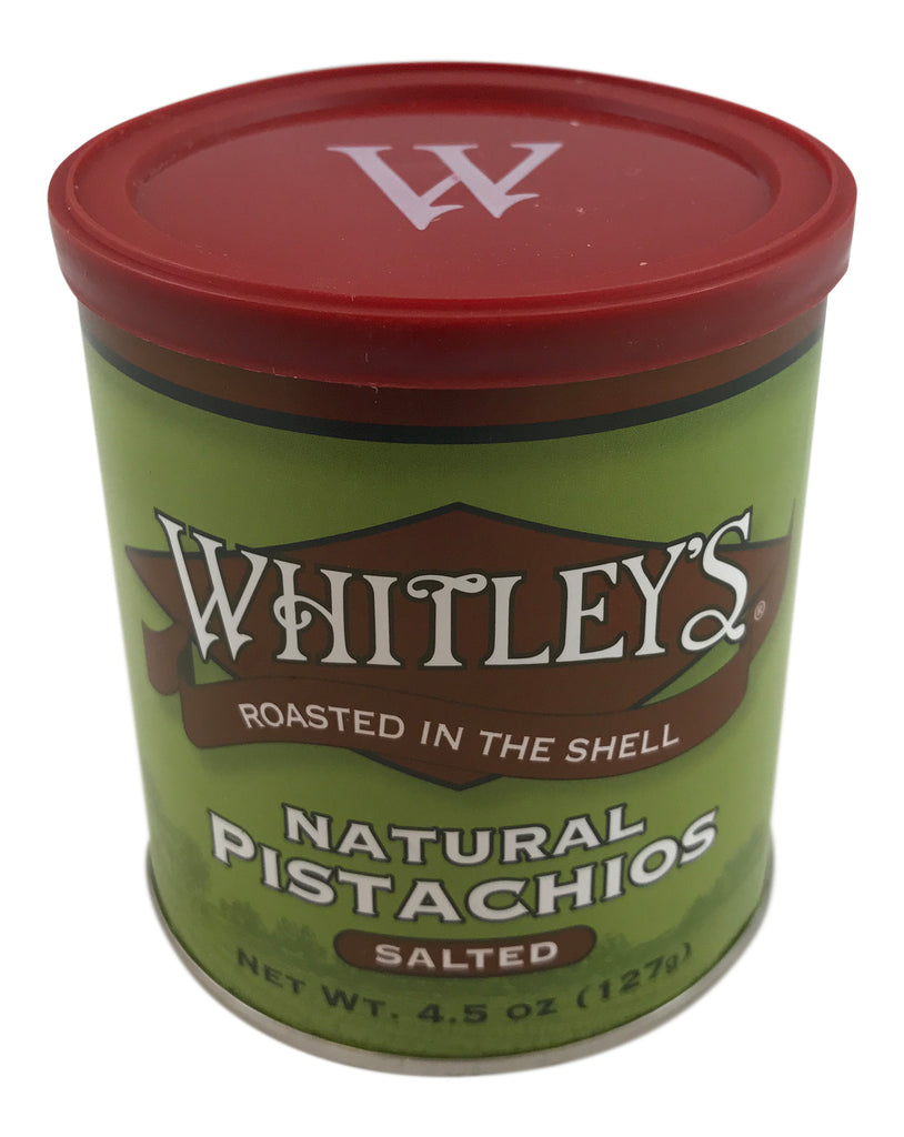 Whitley's Natural Pistachios 4.5 Oz Tin