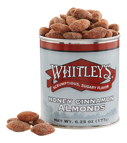 Whitley's Honey Cinnamon Almonds 6.25 Oz
