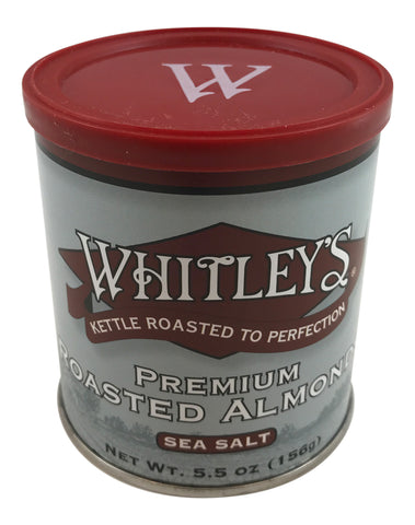Whitley's Premium Kettle Roasted Almonds with Sea Salt 5.5 Oz Tin