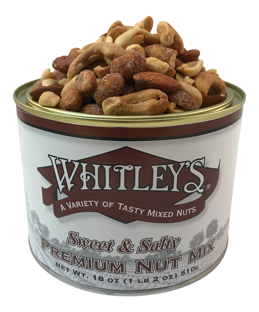 Whitley's Sweet & Salty Premium Nut Mix 18 Oz Tin