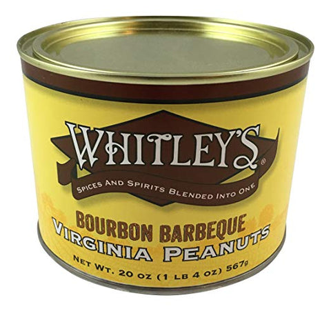 Whitley's Bourbon Barbeque Virginia Peanuts 20 Oz. Tin
