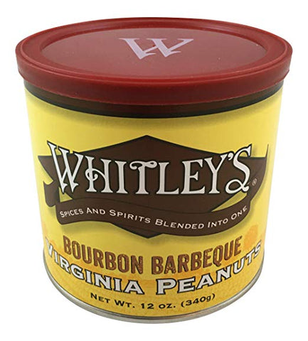 Whitley's Bourbon Barbeque Virginia Peanuts 12 Oz. Tin