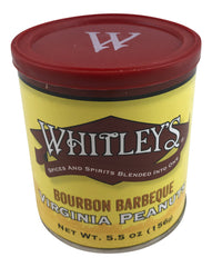 Whitley's Bourbon Barbeque Virginia Peanuts 5.5 Oz Tin