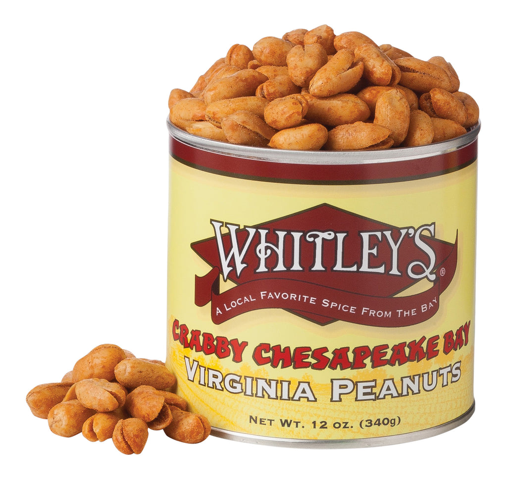 Whitley's Crabby Chesapeake Bay Virginia Peanuts 12 oz.