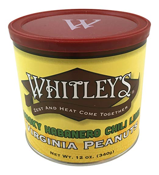 Whitley's Smoky Habanero Chili Lime Virginia Peanuts 12 Oz.