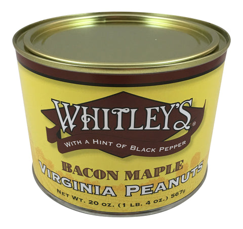 Whitley's Bacon Maple Virginia Peanuts 20 Oz.
