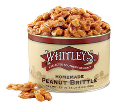 Whitley's Homemade Peanut Brittle 24 Ounce Tin