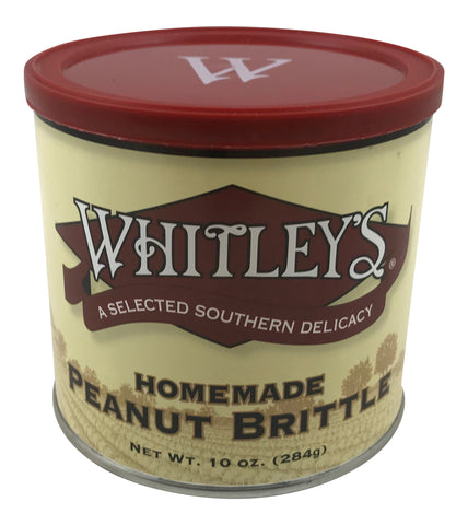Whitley's Homemade Peanut Brittle 10 Ounce Tin