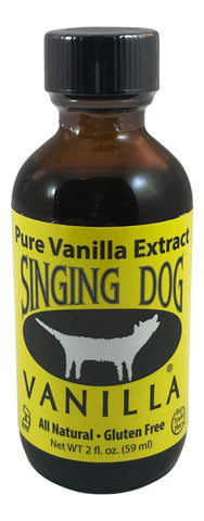 Singing Dog Vanilla, Pure Vanilla Extract, 2 OZ