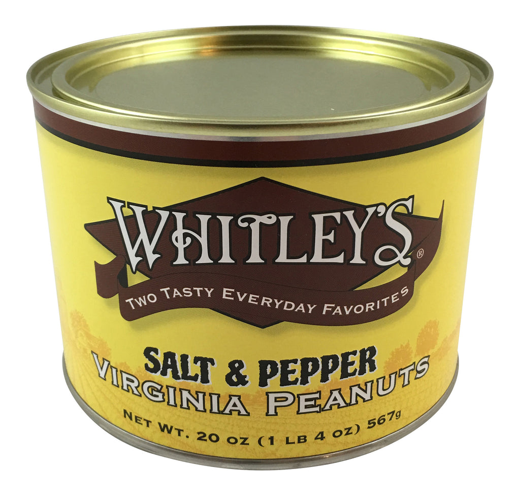 Whitley's Salt & Pepper Virginia Peanuts 20 Oz.