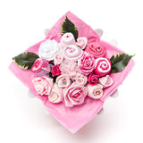 Baby clothing bouquet in pink