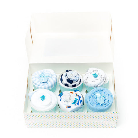 Clothing Cupcakes - Blue - 6 pack