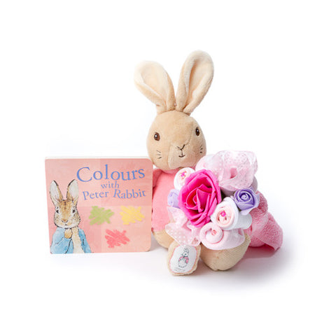 Flopsy Bunny bouquet and book set