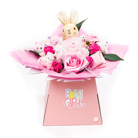 Baby Bouquet - Pink - Flopsy Bunny Toy