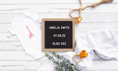Customisable Digital Pregnancy-Birth Announcement
