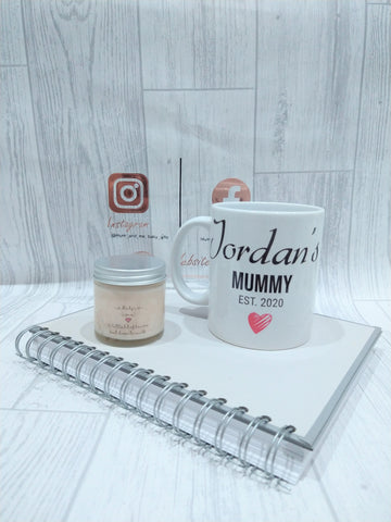 Personalised New Mum Mug and Candle Gift Set