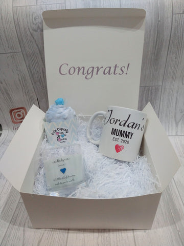 Personalised Mug and Candle Set for a New Mum