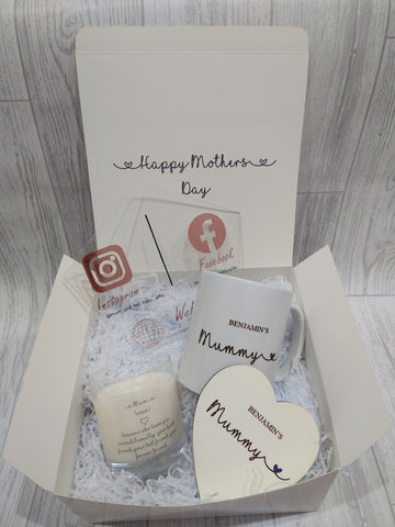 Personalised Mother's Day Mum Mug, Candle, Coaster Gift Set