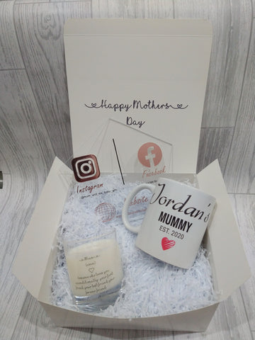 Personalised Mum Mug and Candle gift